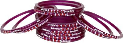 TrendyMetals Plastic Zircon Enamel Bangle Set