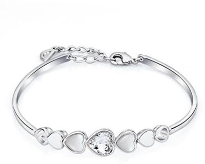 Radiant Jewels Alloy Rhodium Bracelet