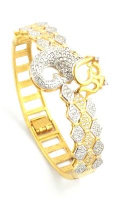 Seeyara Brass Yellow Gold Tennis Bracelet