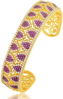 Sukkhi Alloy Cubic Zirconia Yellow Gold Cuff
