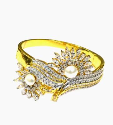 Dilan Jewels Sterling Silver Zircon Yellow Gold Bracelet