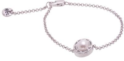 Cygnet Jewels Alloy Rhodium Tennis Bracelet
