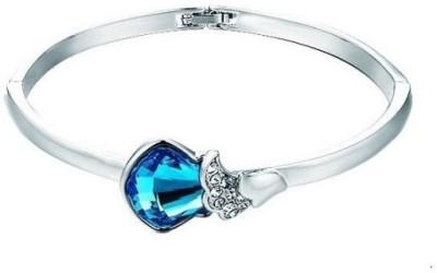 Radiant Jewels Alloy Swarovski Crystal Rhodium Bracelet