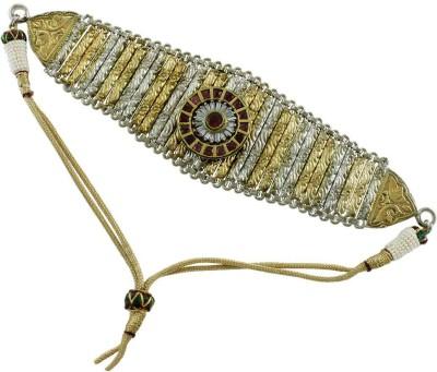 Orniza Brass White Gold Armlet