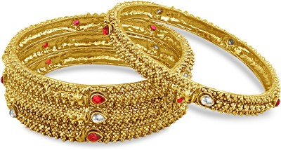 Inaya Alloy Yellow Gold Bangle Set