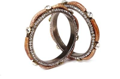Jewlook Copper Zircon Copper Bangle Set