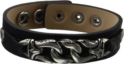 Inox Jewelry Leather, Stainless Steel Bracelet