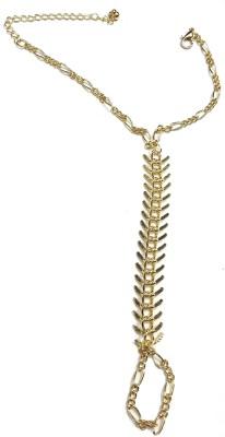 Gurjari Brass Yellow Gold Ring Bracelet