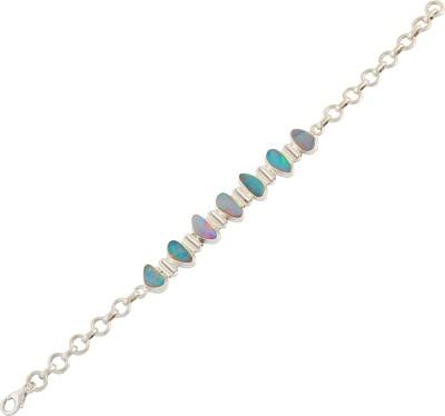 EEKABA Sterling Silver Opal Sterling Silver Bracelet