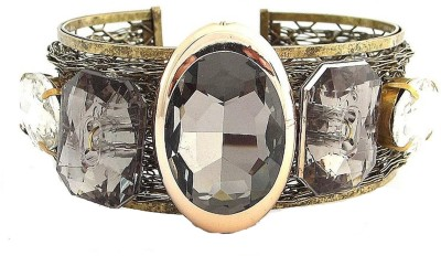 the jewelbox Brass Cubic Zirconia Cuff