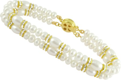 JPearls Alloy Yellow Gold Bracelet