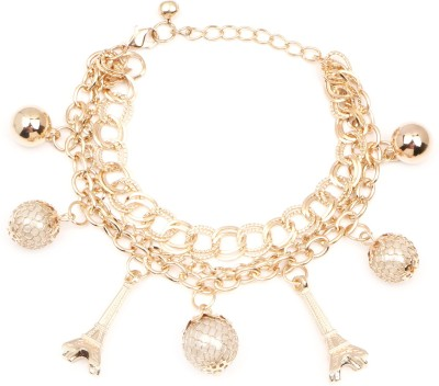 Johareez Alloy Pearl Yellow Gold Bracelet