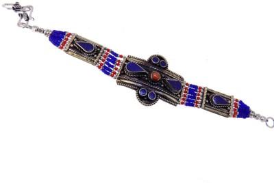 Aabhushan Jewels Alloy Turquoise Rhodium Bracelet