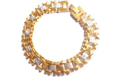 J S Imitation Jewellery Metal 23K Yellow Gold Bracelet