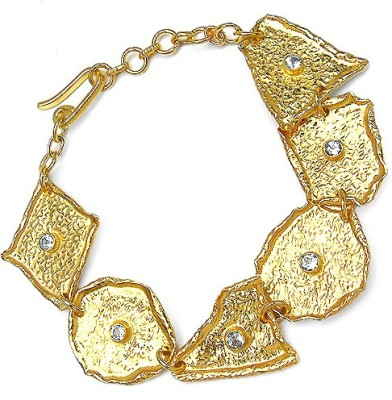 Johareez Brass Topaz Yellow Gold Bracelet