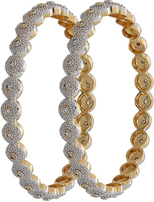 Jwells & More Alloy Yellow Gold Bangle Set