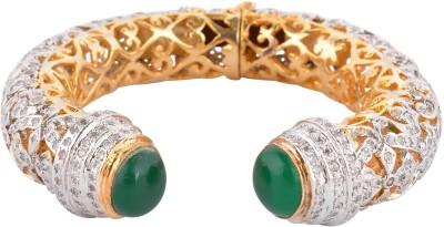 PERFECTION Metal Cubic Zirconia 18K Yellow Gold Bracelet