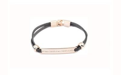 24Accessories Metal, Leather Bracelet