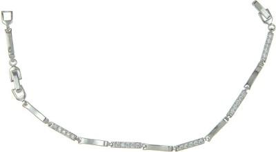 Kushals Fashion Jewellery Silver, Alloy Rhodium Bracelet