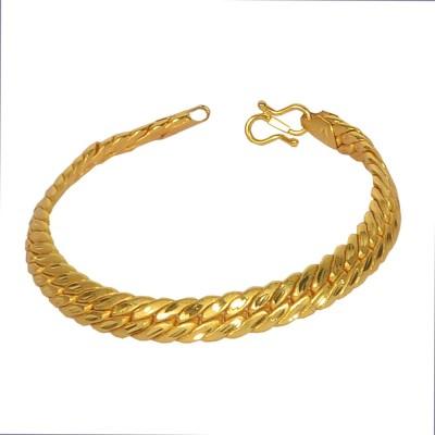 Pourni Brass Yellow Gold Bracelet