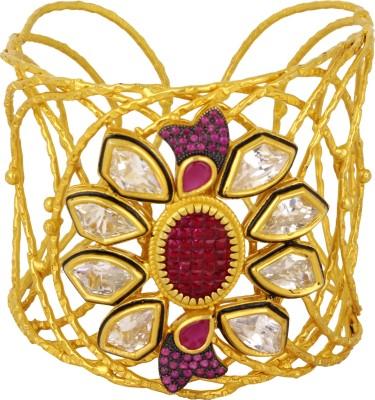 Sanaya Collection Metal Yellow Gold Cuff