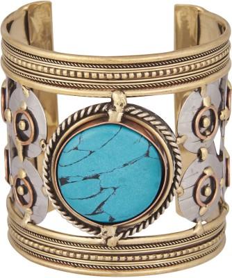 Shining Jewel Brass Zircon Copper Cuff