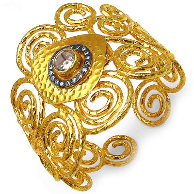 Johareez Fashion Brass Cuff