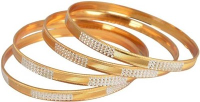 Kanas Jewellers Alloy Yellow Gold Bangle Set(Pack of 4) at flipkart