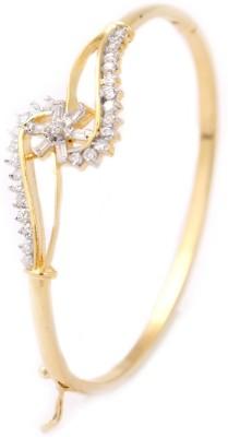 Chandrika Pearls Copper Cubic Zirconia Yellow Gold Bracelet