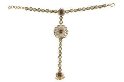 Vama Fashions Alloy, Copper Yellow Gold Hand Thong