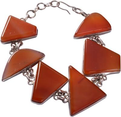 Manirathnum Sterling Silver Onyx Bracelet