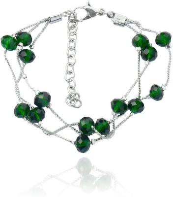 Beadworks Alloy, Glass, Copper Bracelet