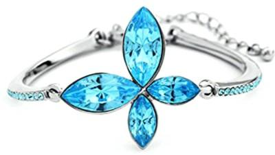 University Trendz Alloy Crystal Rhodium Bracelet