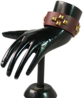 VR Designers Metal, Leather Bracelet