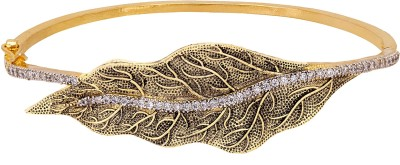 Adwitiya Collection Copper Cubic Zirconia 24K Yellow Gold Bracelet
