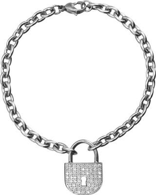 Inox Jewelry Stainless Steel Cubic Zirconia Bracelet