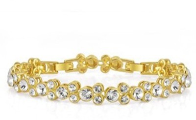 Yellow Chimes Alloy Swarovski Crystal Rhodium Bracelet