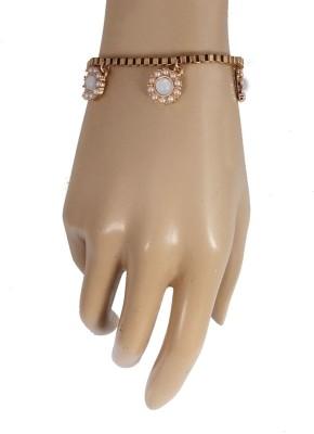 Jewelizer Alloy Opal Rose Gold Charm Bracelet