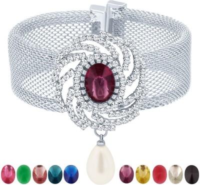 Sukkhi Alloy Rhodium Bracelet