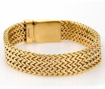 Magic Stones Brass 22K Yellow Gold Bracelet