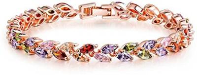 Karatcart Zinc Zircon 18K Rose Gold Bracelet