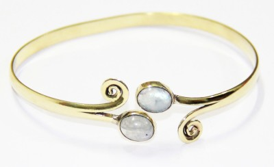 SR Crafts Brass Silver Bracelet