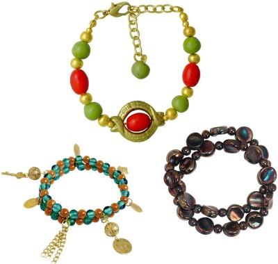 Kenway Retail Glass, Metal Brass Bracelet Set