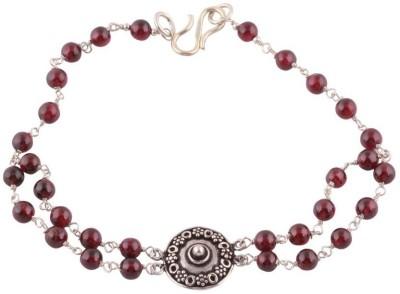 Kirti Gems Sterling Silver Garnet Bracelet