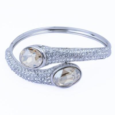 Trisha Alloy Swarovski Crystal Rhodium Bracelet