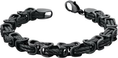 Peora Steel Black Silver Bracelet