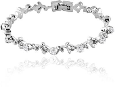 Mahi Brass, Alloy Crystal Rhodium Bracelet
