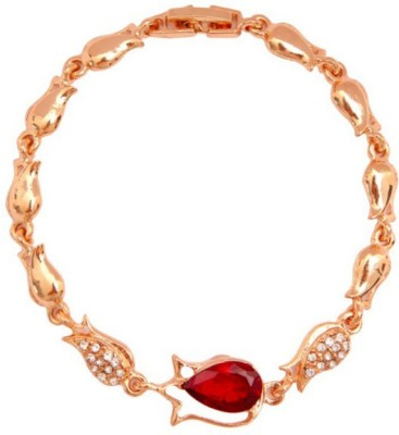 Lady Rainbow Alloy 18K Rose Gold Bracelet