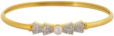 Waama Jewels Brass Cubic Zirconia Yellow Gold Bracelet