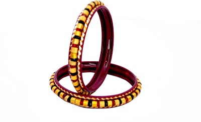 Ankur Brass Yellow Gold Bangle Set(Pack of 2) at flipkart